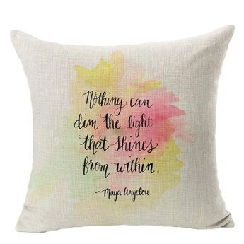 Decorative Letters Sofa Bed Home Decoration Festival Pillow Case Cushion Cover home decor Christmas gift Almofadas Cojines