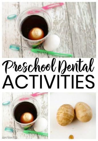 Teach Preschoolers Dental Health with these Five Activities