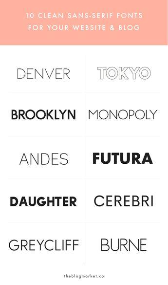 10 Crisp & Clean Sans-Serif Fonts For Your Blog
