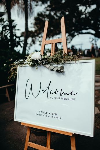 Printable Wedding Welcome Sign | Editable Template Welcome Sign | Black and White Calligraphy | Instant Download | Landscape Welcome Sign