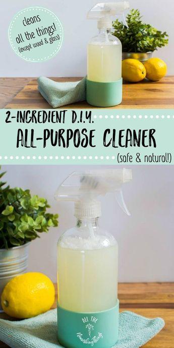 2-Ingredient DIY All-Purpose Cleaner (safe & natural!)