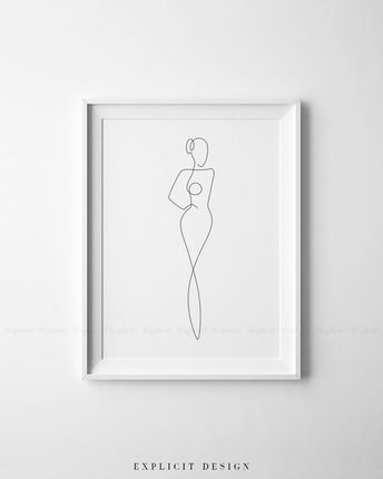 Printable Female Figure Illustration Set of 3, Continuous Line Prints, Minimal Nude Poster, Naked Woman Body Drawing, Glamorous Art Gallery