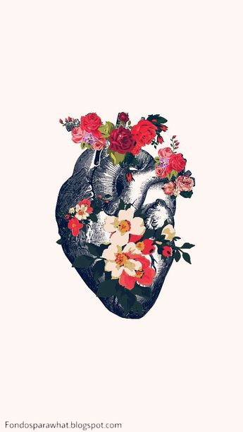 Floral beating heart #graphicdesign #graphics - #b... - #beating #Floral #graphicdesign #graphics #Heart #planodefundo