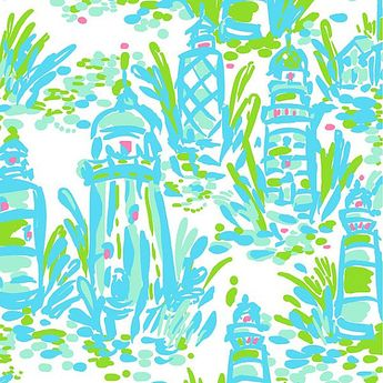 Lilly Pulitzer fabric Turquoise High Beams by fabriclillystyletoo, $10.29