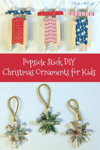 47 Ideas Christmas Tree Decorations For Kids Popsicle Sticks