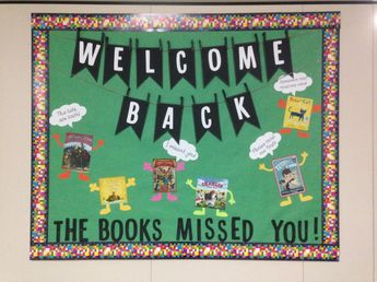 Thank You Librarian in Cute Shoes: What a fun bulletin board for September:)