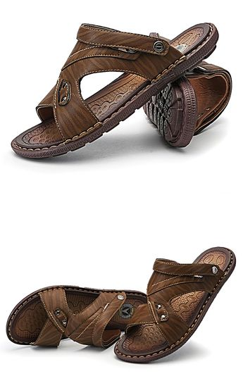 Men's Casual summer PU leather sandal