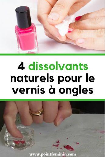 4 dissolvants naturels pour le vernis à ongles