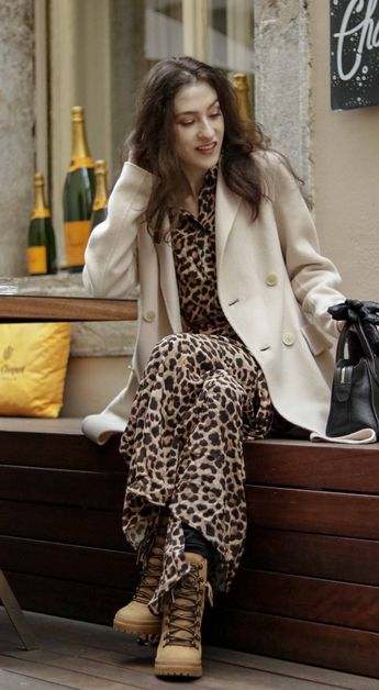 15116af3503c Beautiful Slovenian Fashion Blogger Veronika Lipar of Brunette from Wall  wearing Weekend Max Mara double-