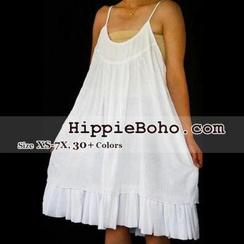 3709458c122 No.053 - Size XS-7X Handmade Hippie Boho Clothing Gypsy White Mini Plus