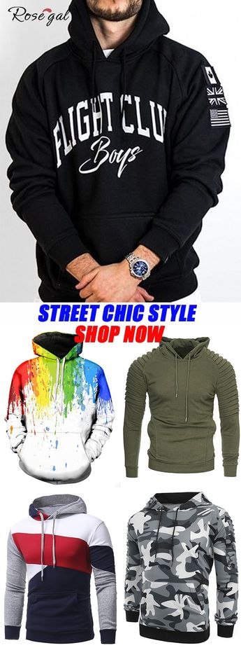 Pullover Hoodie for Men in Different Style #Rosegal #hoodies