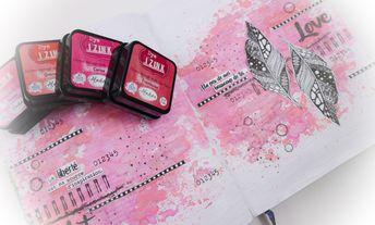 Tuto photos à imprimer : Fond art journal avec Dye Izink d' Aladine par Christelle