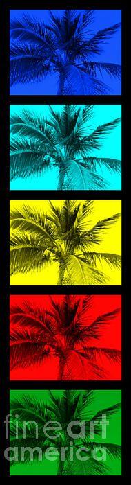 The Palm Totem.pop art, tropical art, colorful artwork, colorful, modern, contemporary art, blue, aqua, yellow, red, green, palm, palms, trees, tree, aruba, miami, maui, hawaii, jersey shore, shore, ocean, boardwalk, sand, sun, flip flops, tropical , wall, d�r, office, bright, neons, neon, bright colors, unique, seaside park, seaside heights, virginia beach, california, cali, surf, surfing, surf art, surfer d�r, surfing photos, beach art, curtin, totems.