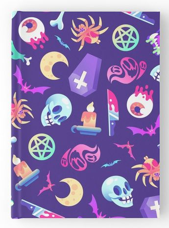 The occult trend is strong on Redbubble.com, where artists are all about the creepy/cute soft grunge vibes of ouija planchettes and mystic potions. Check out these adorably dark patterns on notebooks, pouches, and scarves.