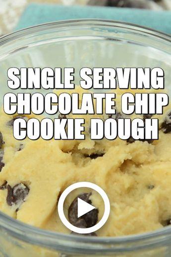 Single Serving Chocolate Chip Cookie Dough : Savory Experiments