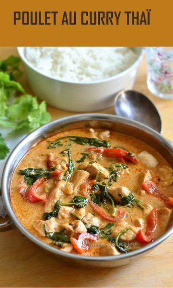 Avec cette recette de poulet curry thaï pleine de saveurs, on s'est plus que régalés et on s'est vraiment cru au resto! C'est une recette thaïlandaise de poulet au curry toute simple mais bien parfumée et goûteuse.