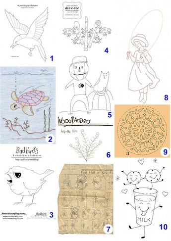 Free patterns: Hand-embroidery