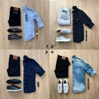 Don't miss out on the 350k sale. Click link in our bio to learn more .... ..... . . 1, 2, 3 or 4? Which one you love the most? . . 📸 @mrjunho3 . . . . . #mensfashion #capsulewardrobe #bluefashion #simpleoutfit