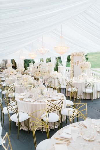 Ultra Glam All-White California Wedding