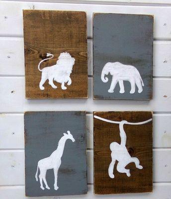 safari nursery idea - boy nursery theme - amorecraftylife.com - jungle theme - zoo theme - animal nursery #baby