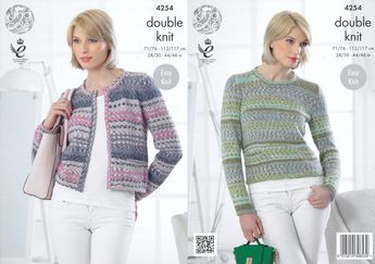 6ae0adbd7 King Cole Double Knitting Pattern - Ladies Cardigan   Sweater (4254) - Mill  Outlets
