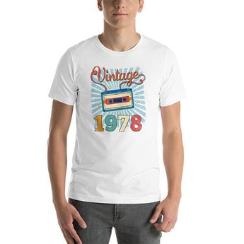 40th Birthday Gift Shirt Turning 40 Years Old Vintage 1978