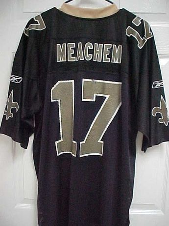 a1c16e789 ROBERT MEACHEM 17 New Orleans Saints Black Gold Nylon Football Jersey XL  Reebok  Reebok