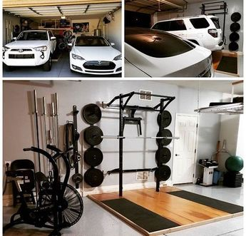 Don't sacrafice your parking space for a workout space. Space-saving systems give you the best of both worlds!
