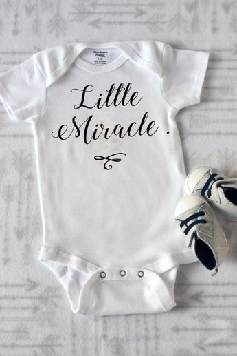 713e5eb4a Little Miracle Onesie/ Baby Wear/ Baby Onesie/ Shower Gift/ Graphic Onesies/