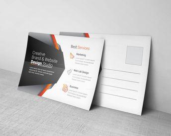 Market Corporate Postcard Design Template - Graphic Templates
