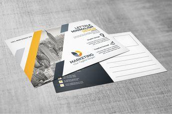 PSD Elegant Postcard Design 002834 - Template Catalog