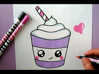 Cute Food Drawing How To Draw A Super Cute And Easy Cupca