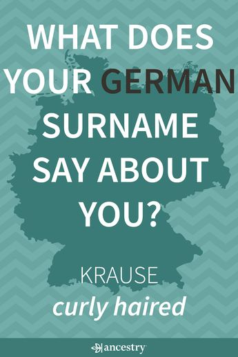 There are 4 common types of German Last Names. Enter your last name to learn its meaning and origin.