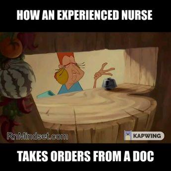 How Nurses take orders from doctors.