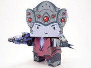 Overwatch - Chibi Widowmaker Free Paper Toy Download