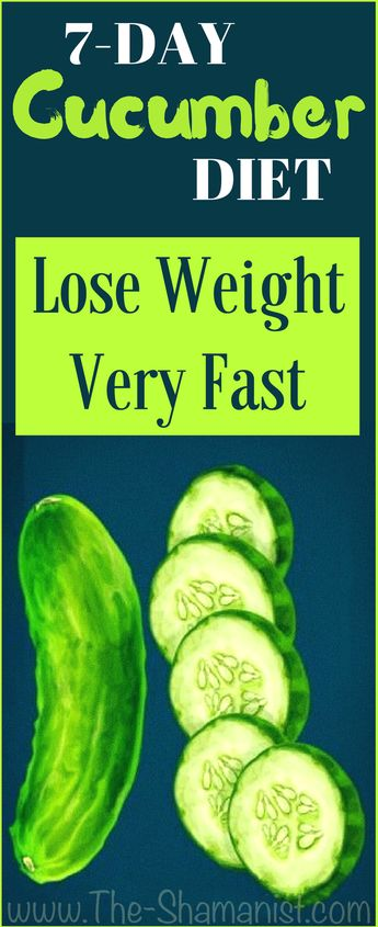 7-Day CUCUMBER Diet - A Safe Way to Lose 15 lbs in Just 1 Week!
