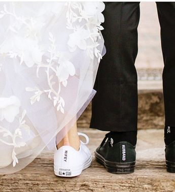 Cute wedding couple sneakers! Will you wear heels or sneakers to your wedding?  : @chardphoto #wedding #weddingshoes #weddings #singaporewedding #weddingsneakers #singaporebrides #sgbrides #sgbudgetbrides #sgbridestobe #bridetobe #sgwedding #weddinginspo #weddinginspiration #weddingphotograph #weddingsneakers Shoe boots | Me too shoes | Cute shoes | Fashion shoes | Crazy shoes | Heeled boots | Bridal shoes | Sparkly wedding shoes | Sylwester dresses | Grad shoes | Wedding heels | Wedding heels s
