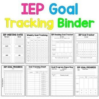 IEP Goal Tracking Binder- Data Collection for Special Education