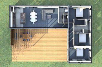 Proiect interior parter plus etaj casa din containere