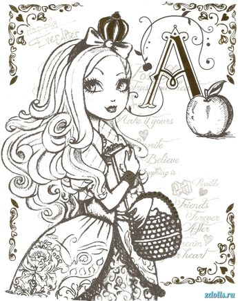 Free Printable Ever After High Coloring Pages: Madeline Hat
