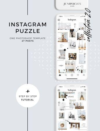 Heart&Soul Instagram Puzzle Template