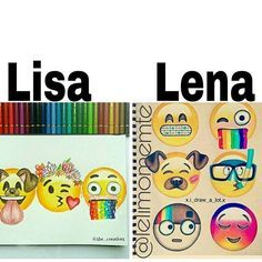 Lisa or Lena? Subject: Emoji Drawing My Choice: Lisa