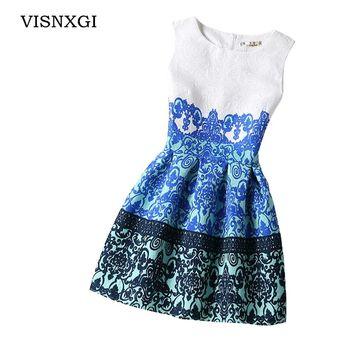 d2a790dfb17 VISNXGI 2018 Bottoming Dresses Women Summer Style Dress Vintage Party  Vestidos Plus Size Female Dress Boho