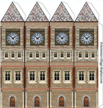 Carton modèle Maison modèle imprimable template de modèle