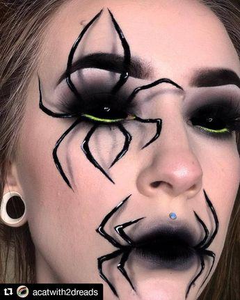 66 Halloween Minimalist Spiderweb-inspired Eyeliner Tutorial