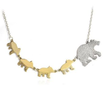 """Mother Bear Necklace #inspireuplift #adorable #appreciation #accessory #charm #accessories #charming #birthday #children #alloy  Our adorable """"Mother Bear"""" Necklace is the perfect necklace for Mom! Give it as a birthday gift, Mother's Day gift, or just to show Mom how much you appreciate her! Get one for yourself too! It's a charming piece of jewelry, great for layering or wear it solo for a sweet, dainty touch to any everyday outfit. Metals Type: Alloy Length: 18"""""""