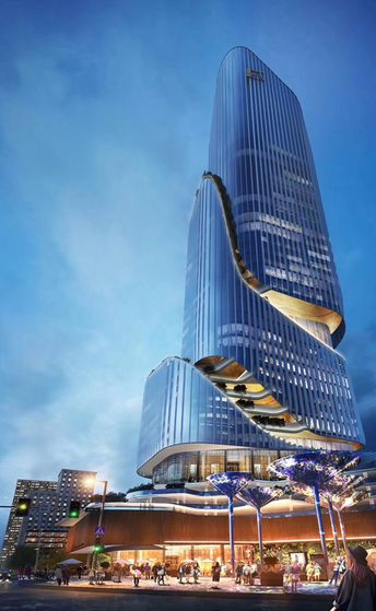 Guangdong Hengqin Taiwan GETC building, It is 150 meters super high-rise building