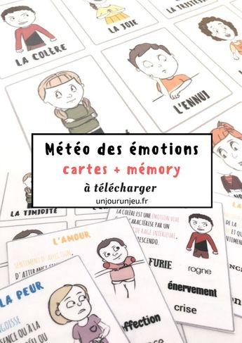 La météo des émotions {cartes et memory à télécharger}
