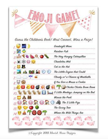 Boho Themed Baby Shower Emoji Game Nursery Children S Bo