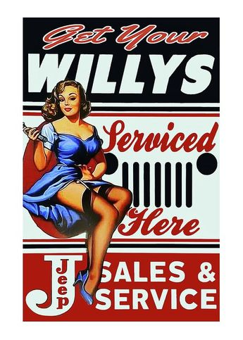 Vintage Willys Advertising Greeting Card for Sale by Roger Smith